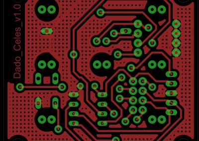 Primer dado electrónico PCB superior