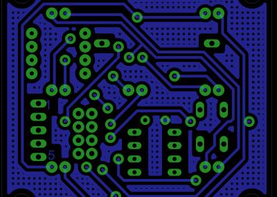 Primer dado electrónico PCB inferiior