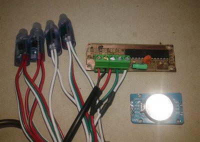 circuito y módulo DS3231.