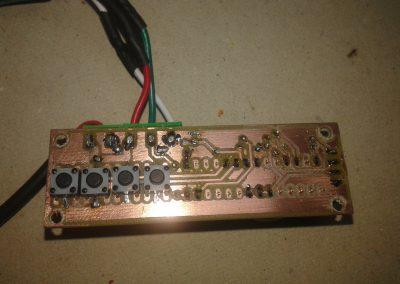 circuito y módulo DS3231 soldado.