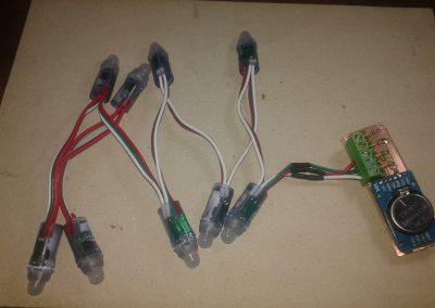 Vista general del circuito terminado.