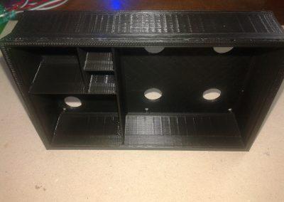 Vista interior caja LEDs en vertical.