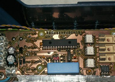 Insoladora detalle zona central circuito en caja