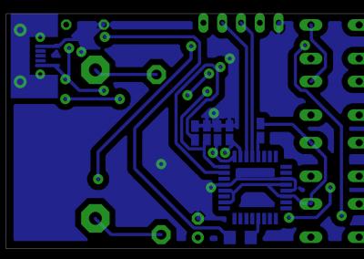 PCB cara inferior Reloj Fibonacci mini