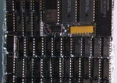 Embolsado circuitos integrados.