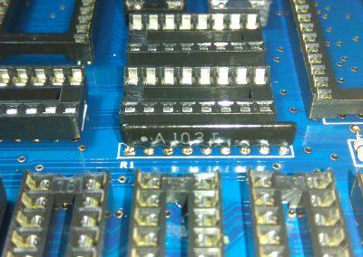 Red de resistencias R1 10K*8 network 9 pin para bus de datos. soldado