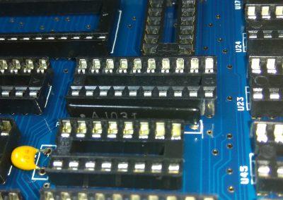 Red de resistencias R2 10K*8 network 9 pin soldado