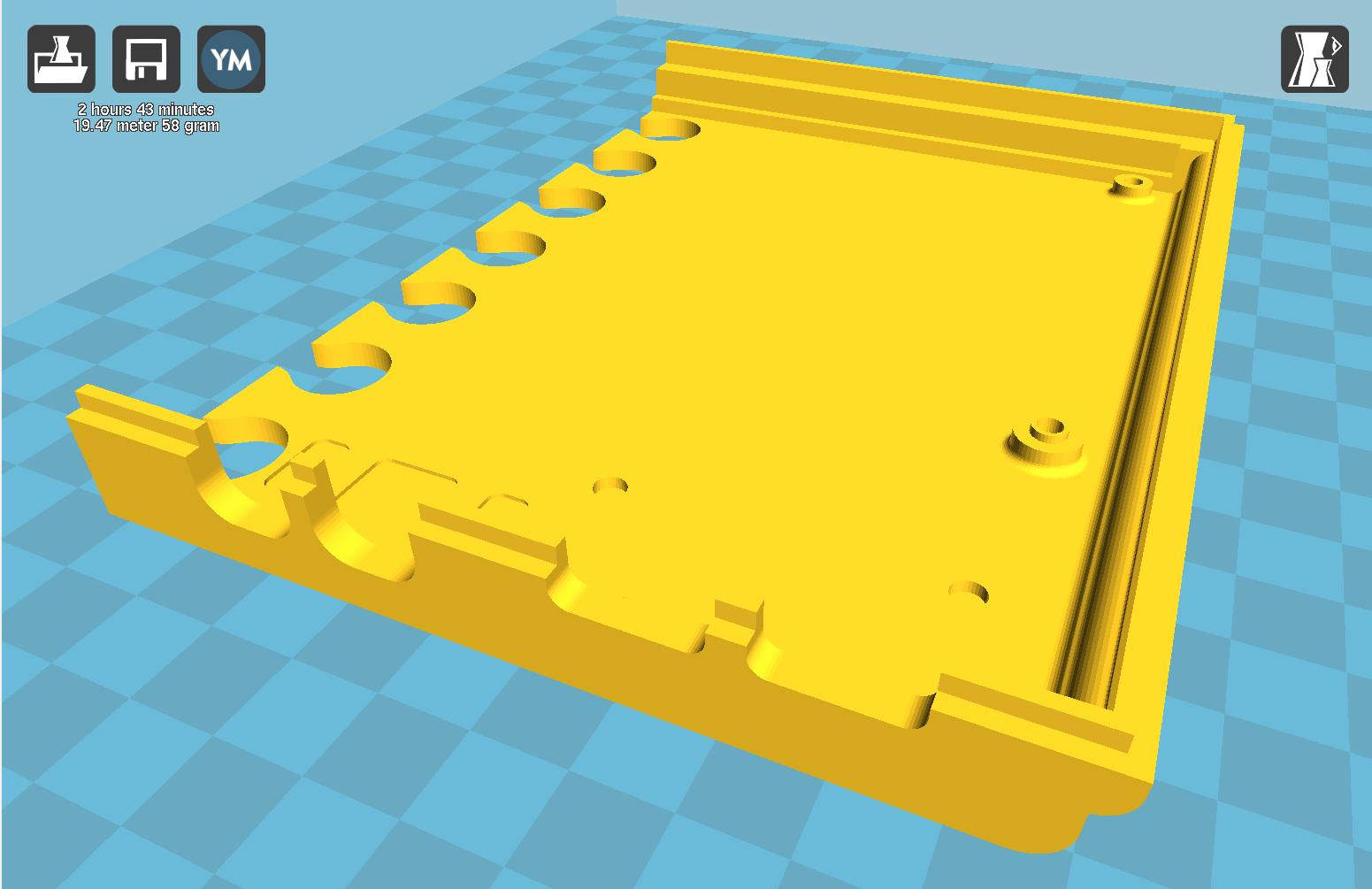 Vista previa de la base, parte izquierda. Versión 4 piezas.