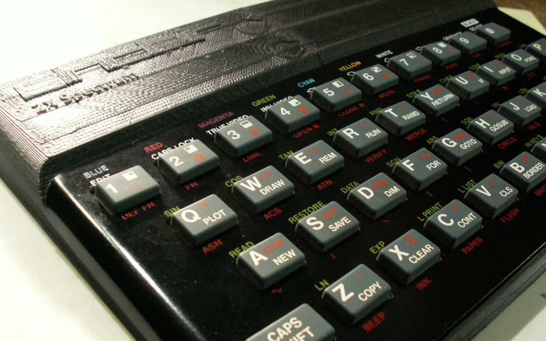 Caja para Spectrum 48k o para harlequín hecha con impresora 3D